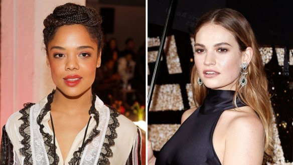 tessa_thompson_and_lily_james_split